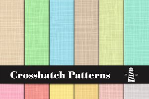 Pastel Crosshatch Patterns