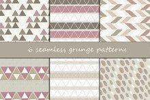 6 seamless grunge patterns