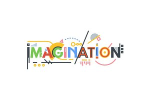Imagination text banner