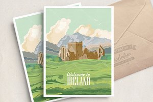 Travel to Ireland. Irish poster