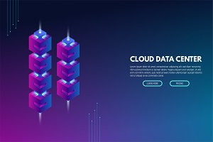 New technology isometric banner