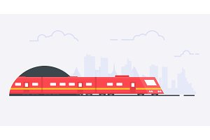 Suburban train illustration