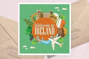Travel to Ireland. Irish poster