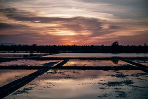 Kep Saltfield During Romantic Sunset