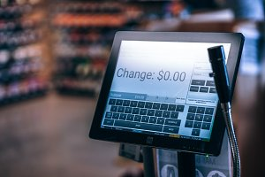 Cashier Touch Screen Register