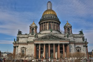 Saint Isaac's Cathedral or Isaakievskiy Sobor in Saint Petersburg, Russia is the largest Russian Orthodox cathedral sobor in the city. It is the largest orthodox basilica.