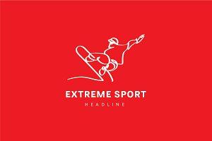 Extreme sport logo.