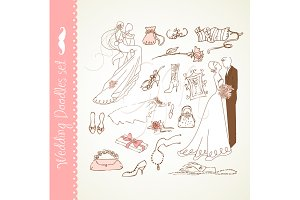 Wedding Digital clip art doodles