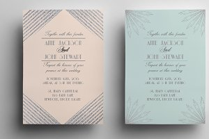 Art deco wedding invitation II