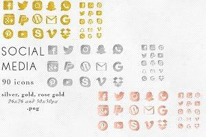 Glitter Social Media Icons