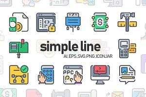 750 Simple Line Icon x2