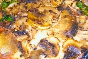 mushroom pizza food