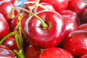 cherry fruit food background