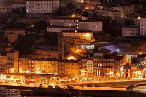 Porto City by Night in Portugal