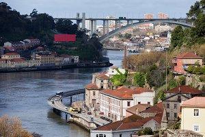 Porto City At Douro River