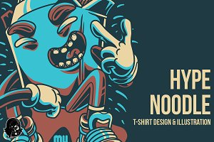 Hype Noodle Illustration