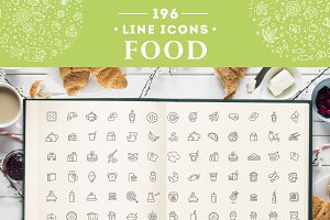 Food & Drinks Icons Set Vol.1