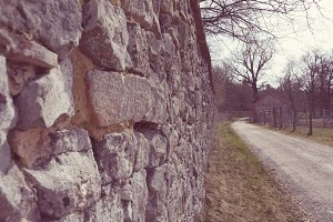 Old brickwall of a castle in germany