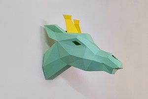 DIY Giraffe Trophy - 3d papercraft