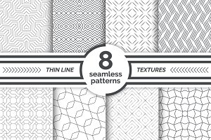 Thin line seamless patterns