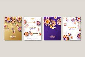 Ramadan Kareem posters set