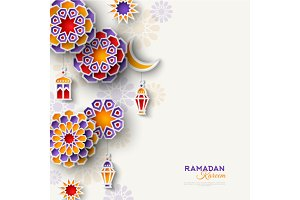 Ramadan Kareem vertical border