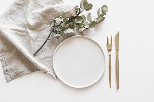 Styled Modern Table Stock Photo