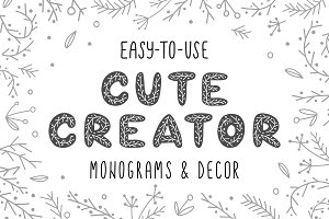 CUTE CREATOR - Alphabet and Decor