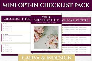 Mini Opt-in Freebie Pack - Checklist