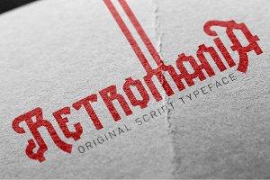 Retromania font.