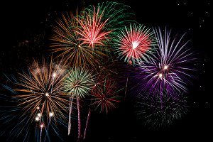 Firework JPG and versatile PSD files