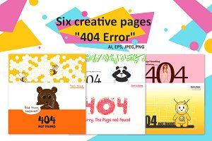 """Six creative pages """"404 Error"""""""