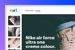 Cart one product webshop