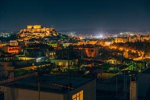 Akropolis at Night