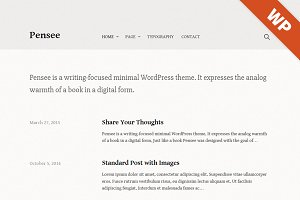 Pensee - WordPress Theme
