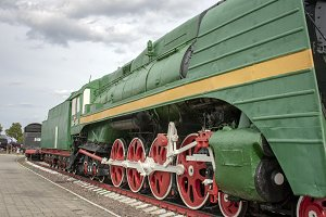 Old steam locomotiv