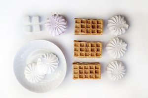 Waffles and marshmallows