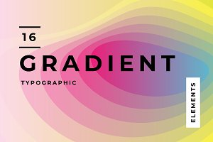 Gradient Typographic Elements