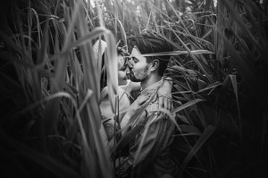 cahipster couple embracing in cane