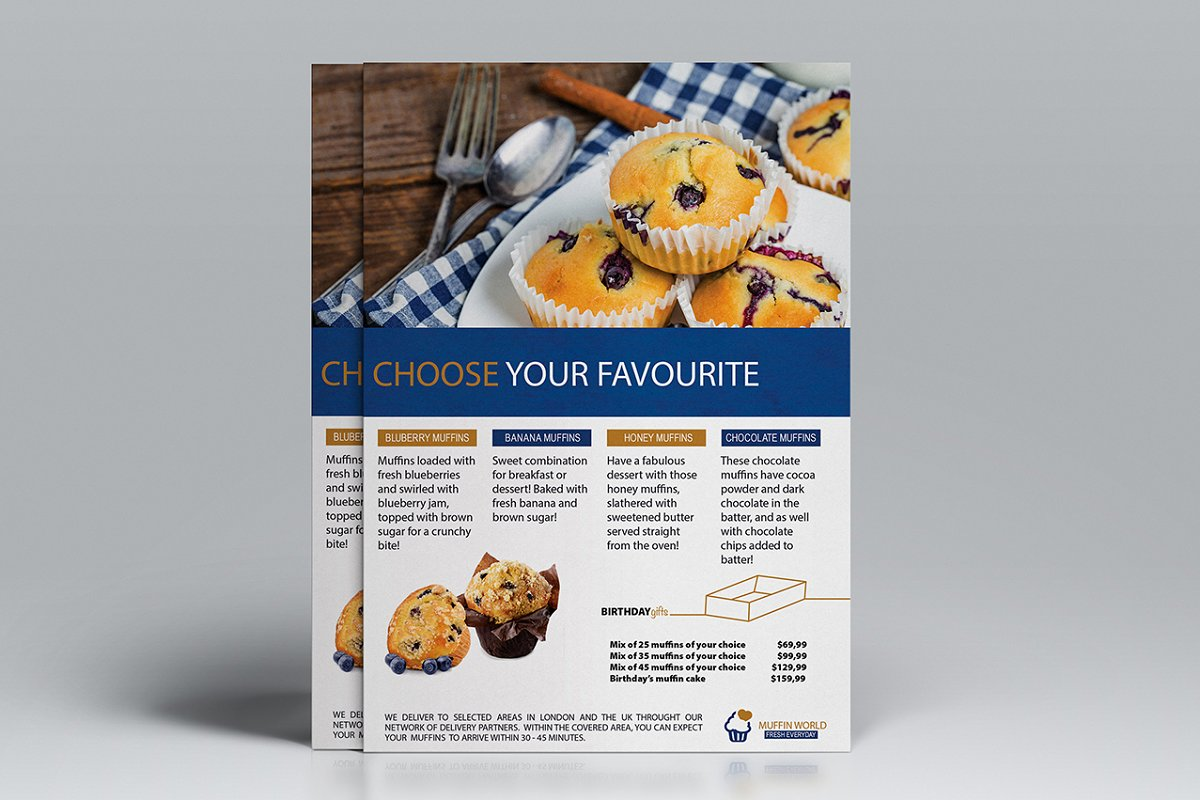 Muffin World A5 Flyer Template