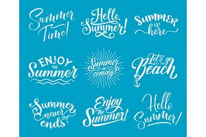 Summer lettering for Summertime Season design