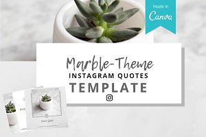 Marble Instagram Quotes Template
