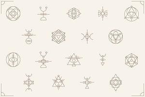 Ancient Tribal Symbols Set