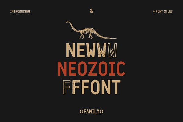 Display Fonts: Syntetype Studio - Neozoic Font + Extras (20% Off)