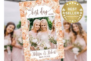 Rose Gold and Silver Wedding Booth