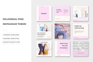 Millennial Pink Instagram Theme