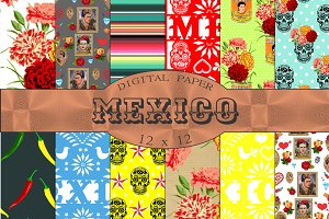 Mexican Themed Papers Mexico