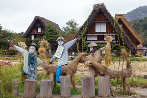 Shirakawa-go scarecrows, Japan