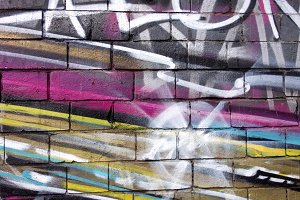 CMYK Graffiti Wall Art