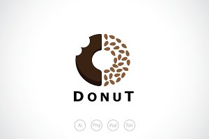 Delicious Donuts Logo Template
